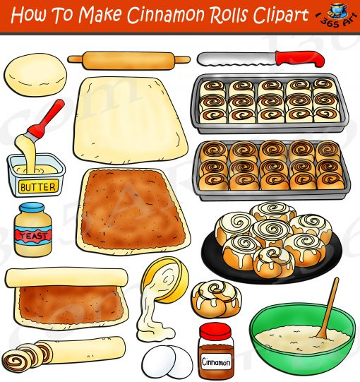 How To Make Cinnamon Rolls Clipart