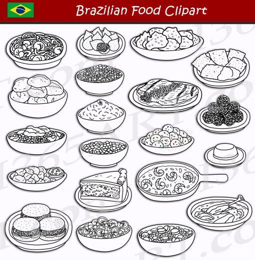 Brazilian Food Clipart