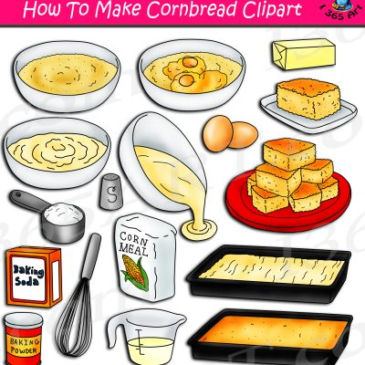 How To Make Cornbread Clipart