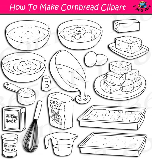 How To Make Cornbread Clipart
