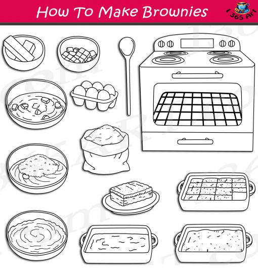 How To Make Brownies Clipart