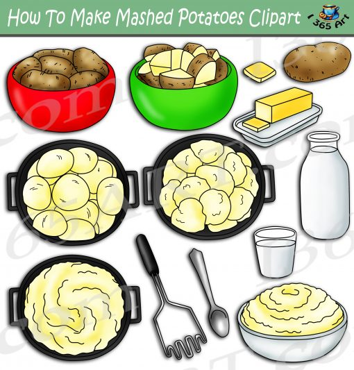 How To Make Mashed Potatoes Clipart
