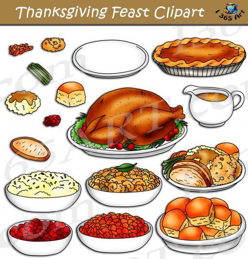 Thanksgiving Feast Clipart